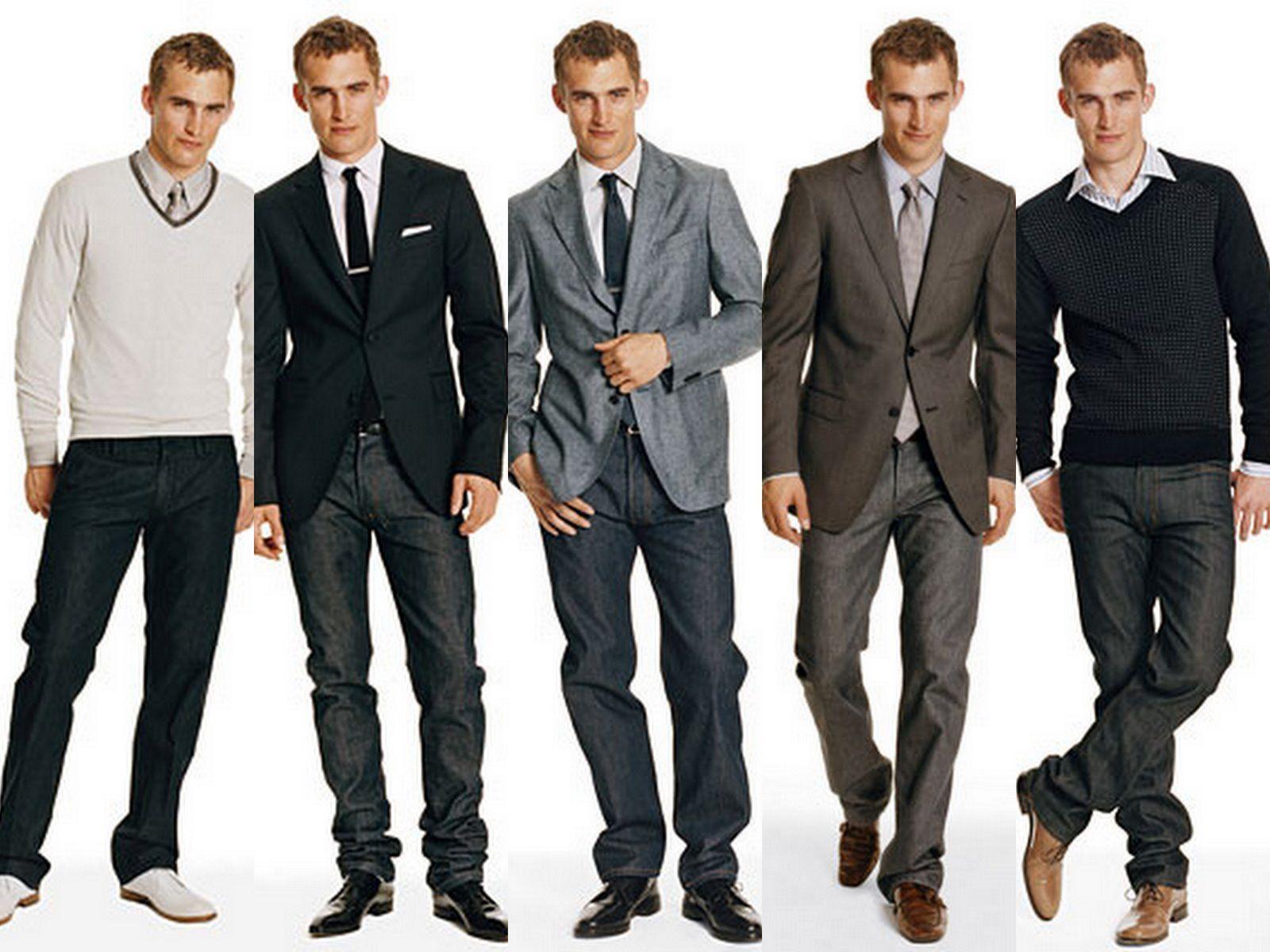 men office casual com gravata