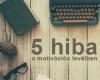 5 hiba a motivációs levélben