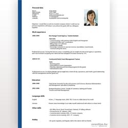 önéletrajz minta iskolai jelentkezéshez Angol nyelvű önéletrajz minta   letölthető sablonnal! | Cvonline.hu önéletrajz minta iskolai jelentkezéshez