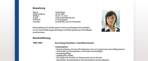 önéletrajz németül sablon Német önéletrajz minta – letölthető sablonnal! | Cvonline.hu önéletrajz németül sablon
