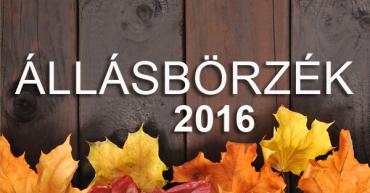 2016 őszi állásbörzék