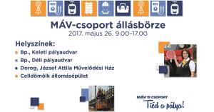 Négy helyszínen tart állásbörzét a MÁV-csoport