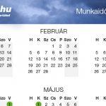 Munkaidő naptár 2018 – nyomtatható verzióval [PDF]