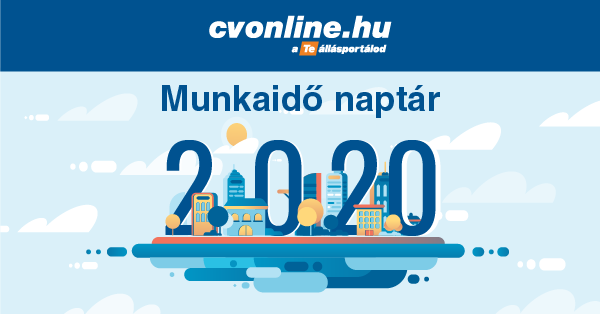 Munkaidő naptár 2020 – letölthető verzióval (pdf)