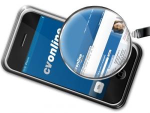 cv-online iphone applikáció